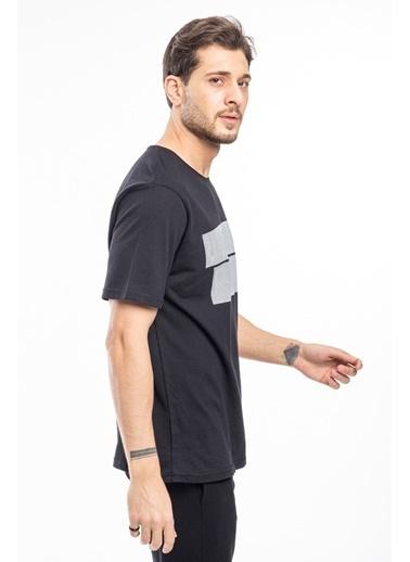 Slazenger Slazenger BERTA Erkek T-Shirt Hardal Siyah